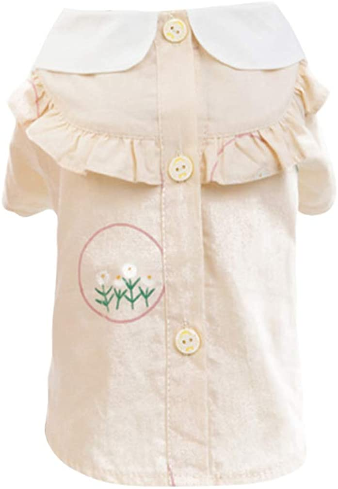 Balacoo Dog Shirt Short Sleeve Puppy Lace Shirt Cat Summer Dress Clothes Vest Pet Costume Supplies for Dog Cats