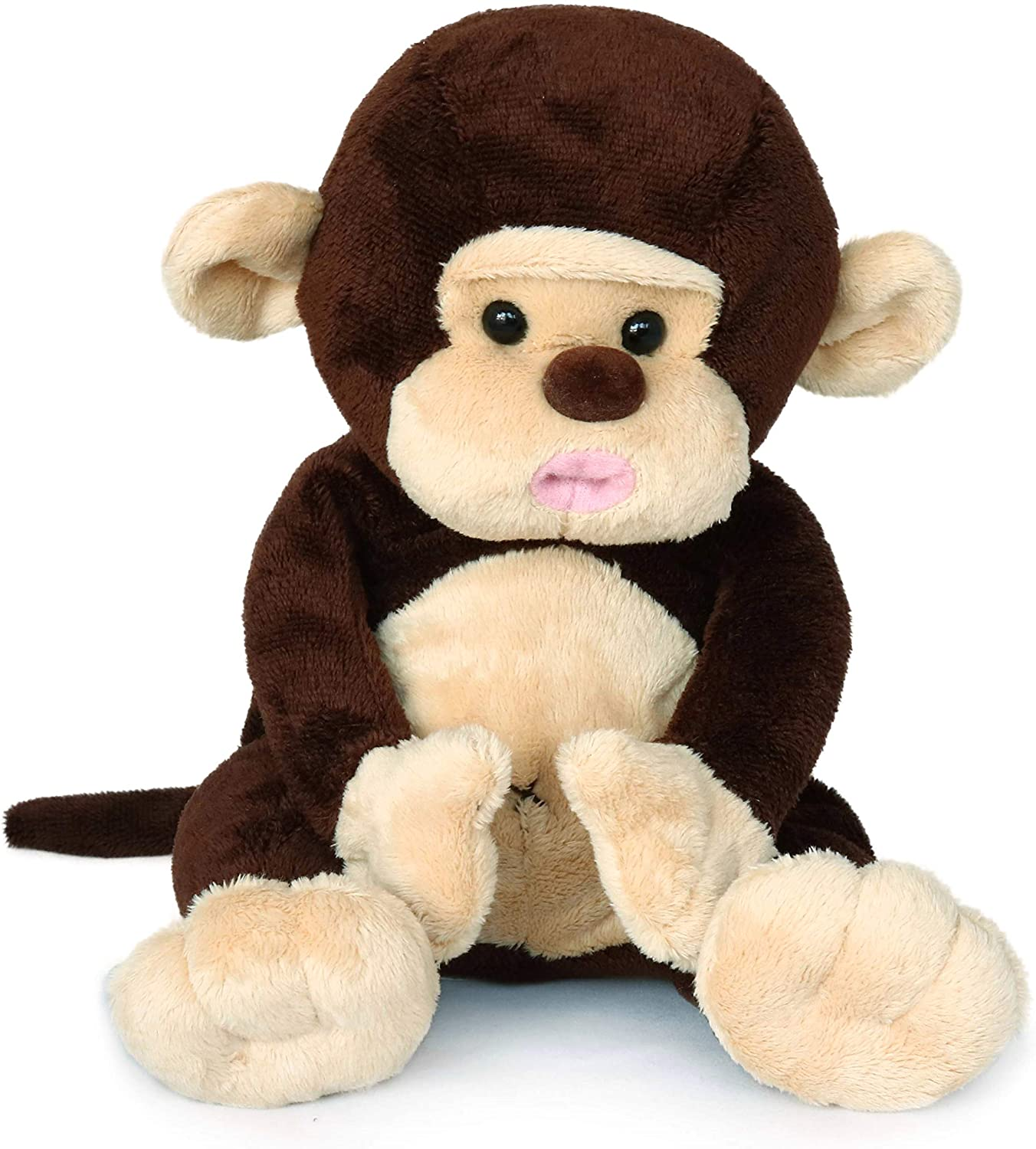 Chocolate Monkey Stuffed Animal Plush Toy, for Kids Baby,8 Inches (Original)