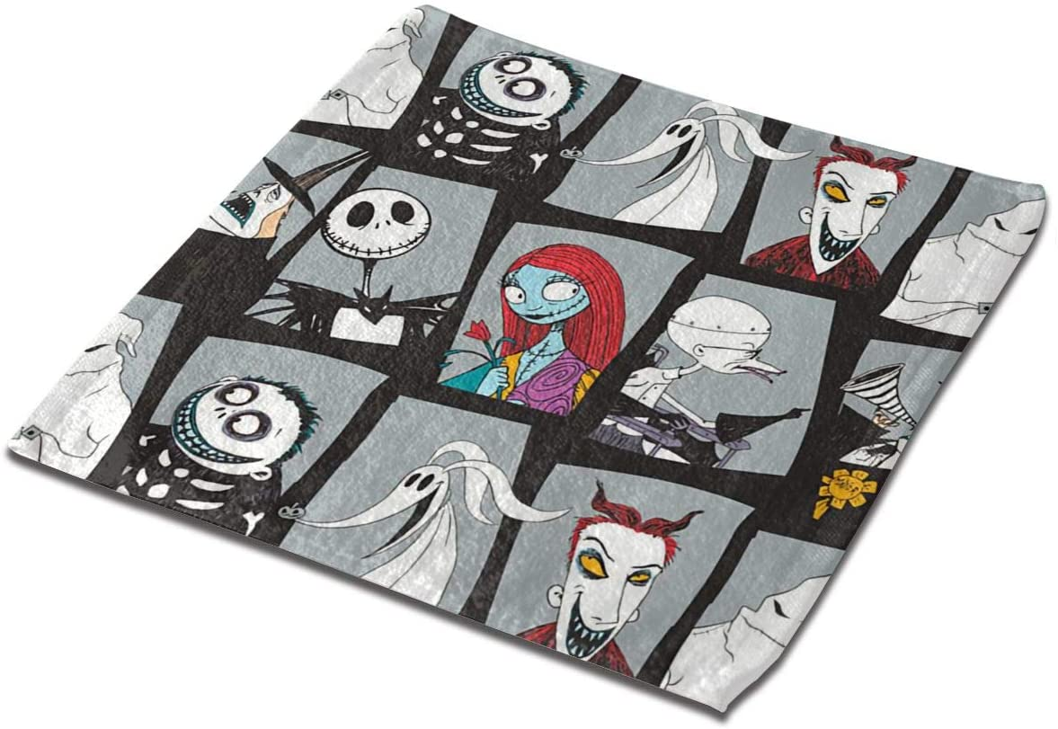 YiwuYshi The Nightmare Before Christmas Microfiber Square Towel (13x13 inches) has high Absorption and Quick Drying