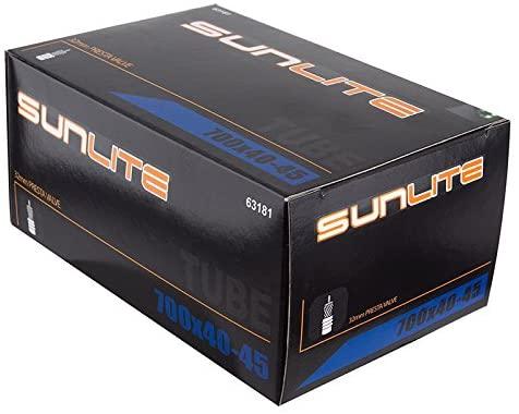 Sunlite Standard Presta Valve Tubes, 700 x 40 - 45 / 32mm, Black