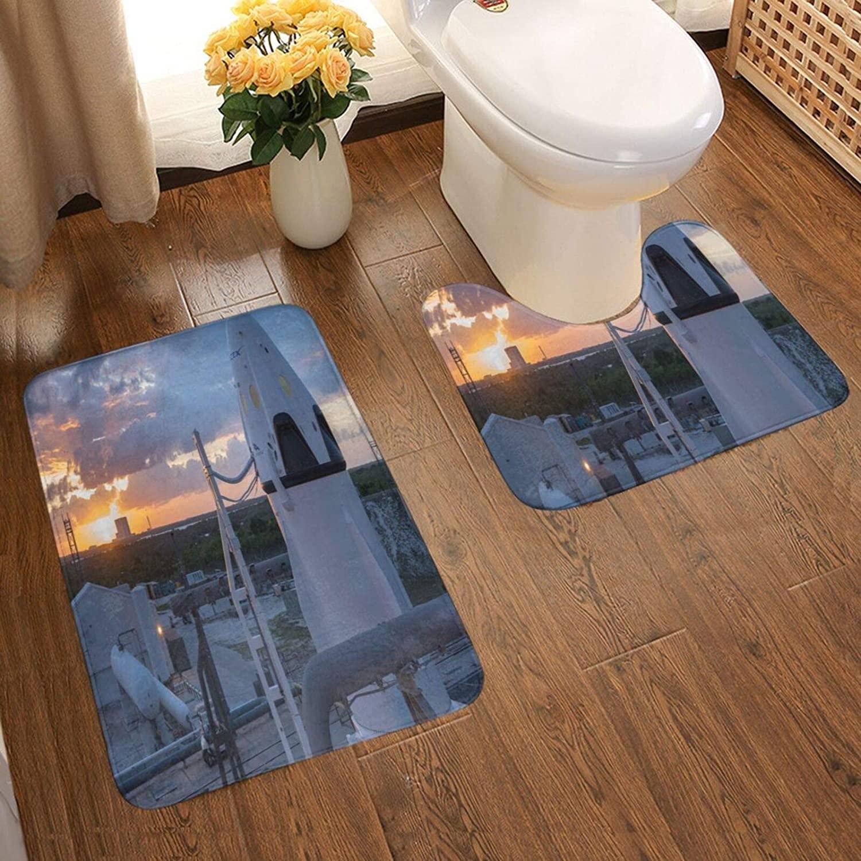 JIGFfkhal Carpet SpaceX Suit Bathroom Non-Slip mat, Two-Piece Washable Bathroom Carpet, Absorbent Soft Bathroom Carpet 50X80cm