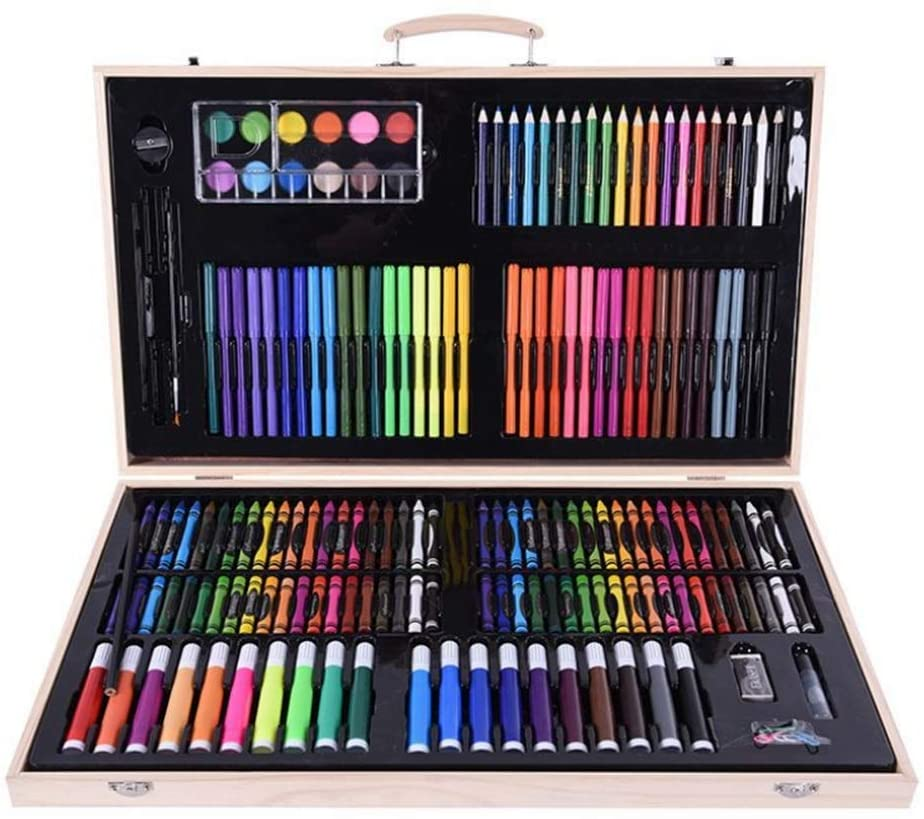 Watercolor Pen Set 180 Brush with Flexible Brush Head Paint Mark for Painting Coloring Professional Watercolor Pen Instant Watercolor Pen Set (Color : Multi-Colored)