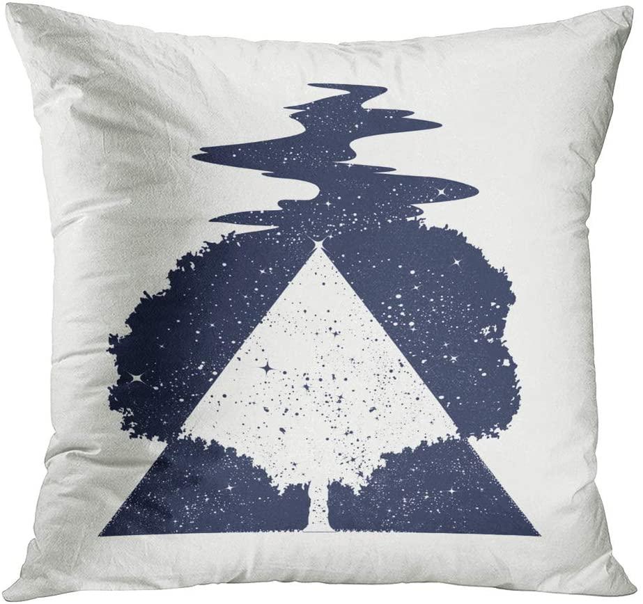 Suike Throw Pillow Cover Tree Life Tattoo Art Symbol Hidden Zipper Home Sofa Decorative Cushion Case 16x16 Inch Square Printed Pillowcase