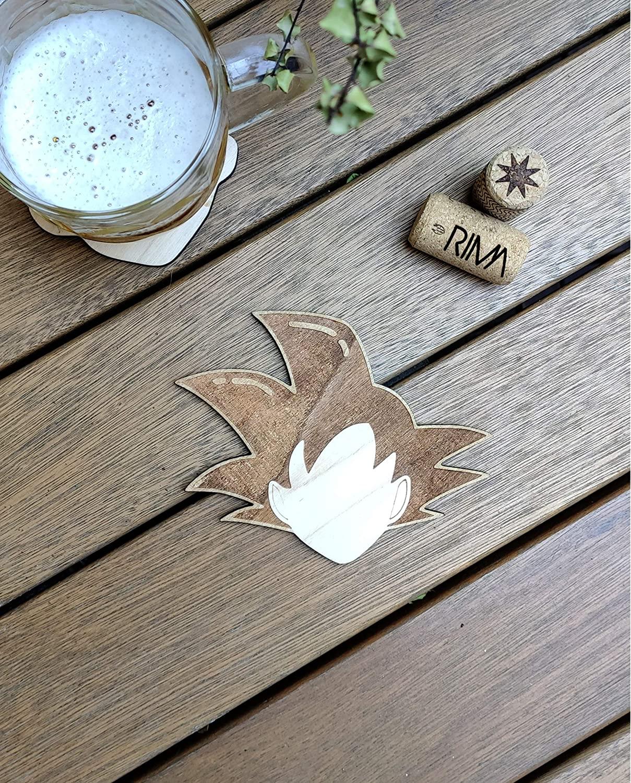 Goku Wood Coaster - Dragon Ball Z
