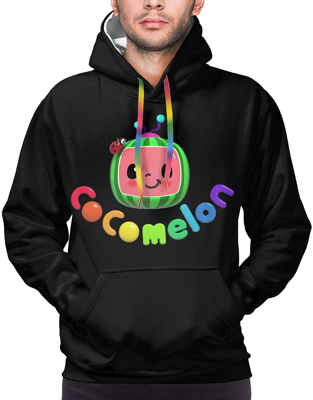 Men's Cocomelon Hoodie Sweatshirt, Long Sleeve Hoodie Casual Top