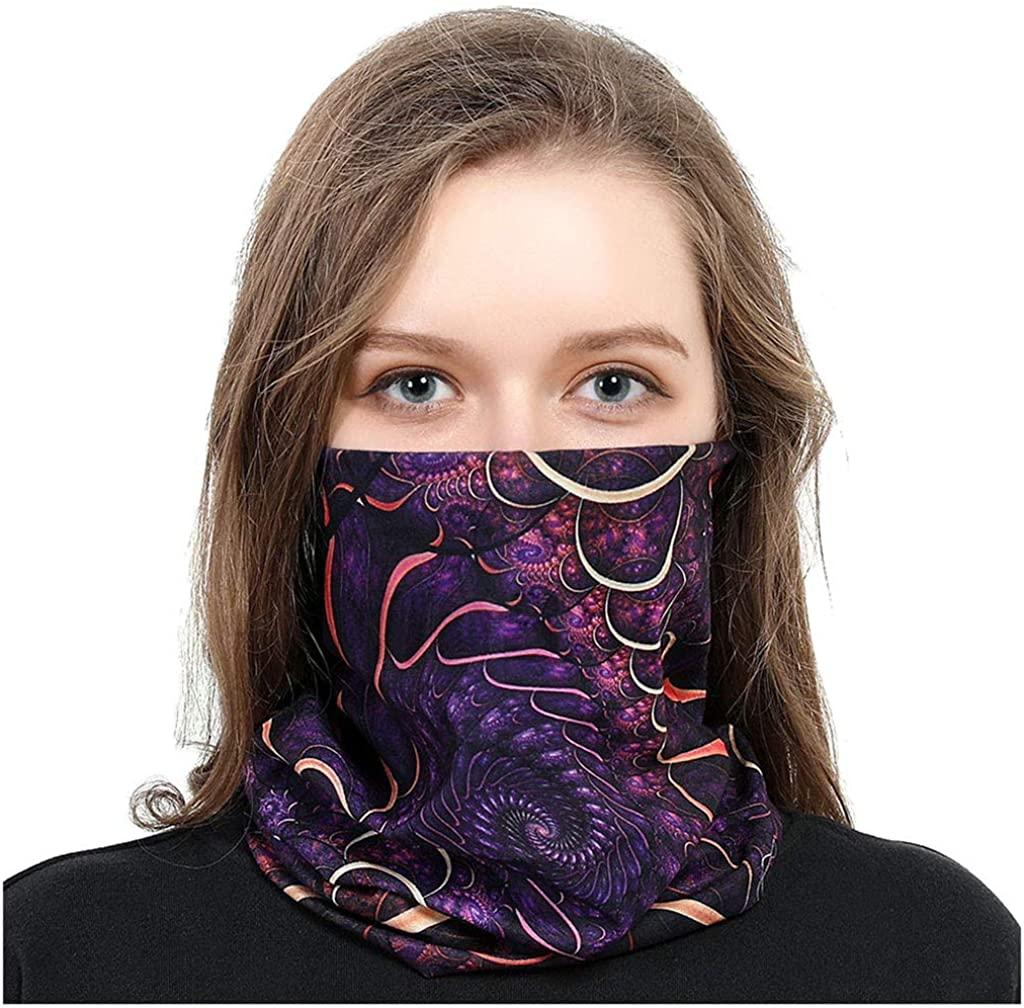 ZLOLIA Print Multifunctional Magic Scarf Outdoor Headwear Bandana Sports Tube UV Face Mask for Workout Yoga