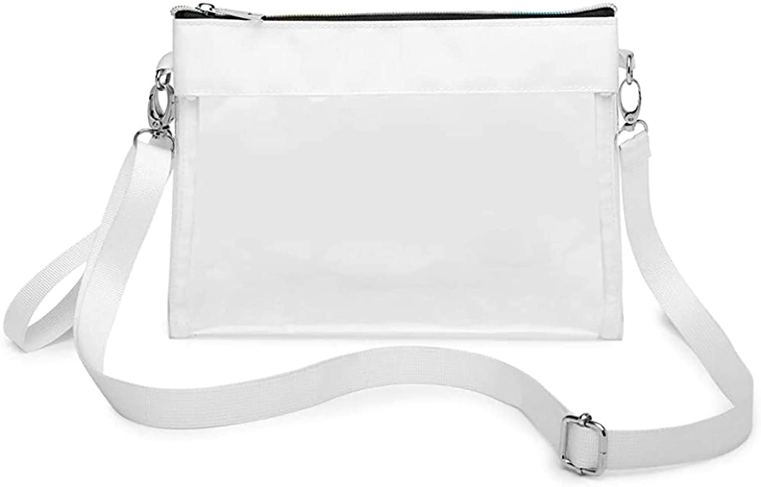 Clear Crossbody Purse NFL Stadium Approved Clear Bag with Shoulder Wrist Strap