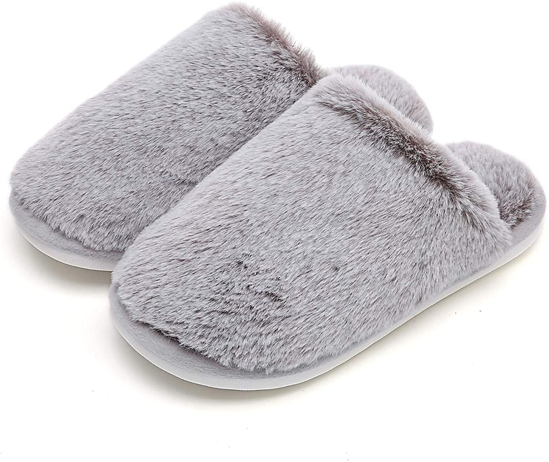 MEMON Women Fuzzy Winter House Slipper | Girls Memory Foam Faux Fur Slippers | Pink Fluffy Warm Slippers for Lady