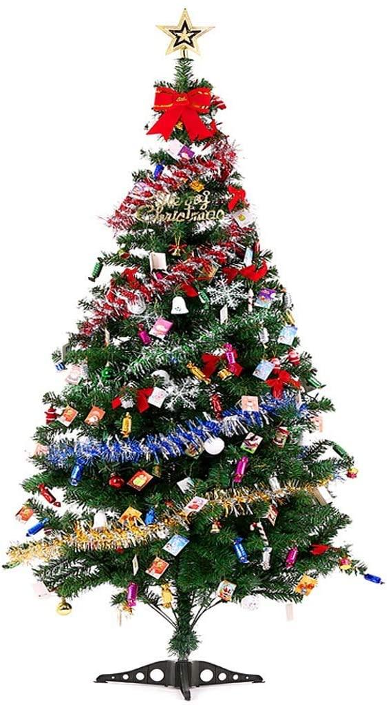 LIUSHI Christmas Trees Artificial Christmas Trees Christmas Decorations Simulation Tree Set Christmas Tree Set Ornaments with Easy-to-Build Hinge Branch Artificial Christmas Trees Christmas Trees
