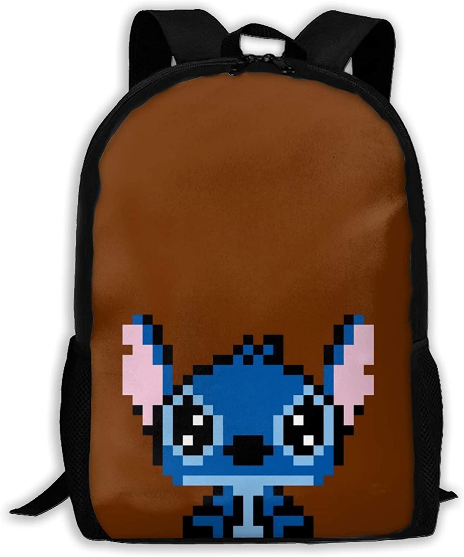 Stitch-61 Lightweight Backpack Briefcase Laptop Shoulder Bag Basic Water Resistant Daypack Bag