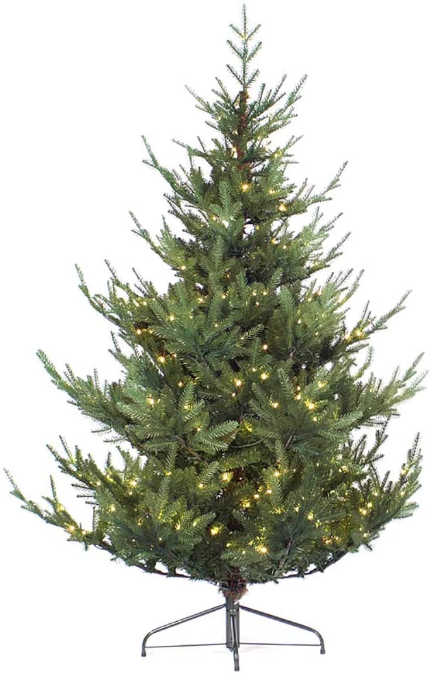 l.e.i. 9.8FT Pre-lit Artificial Christmas Tree,National Aspen Fir Tree Company'Feel real'With 1000 Led Lights,Realistic Branch Tips,8 Flash Modes