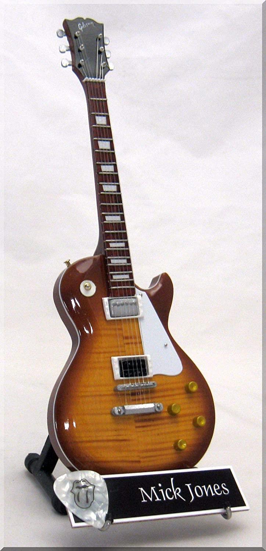 MICK TAYLOR Miniature Guitar Rolling Stones w/Guitar Pick