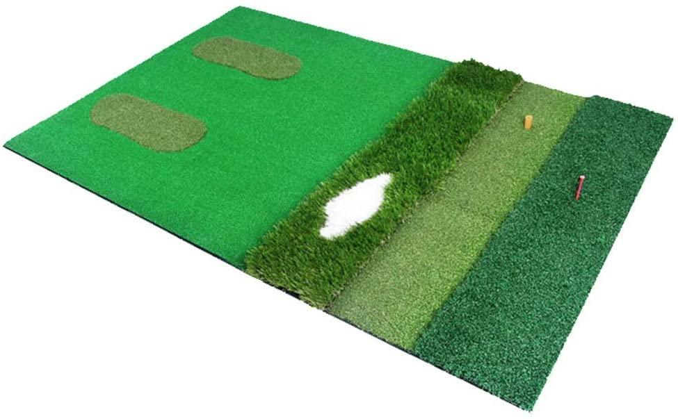 Golf Hitting Mat Golf Multi-function Pad Practice Hitting Grass Mat Indoor Portable Golf Training Turf Mat With High-elastic EVA Bottom Golf Launch Zone Hitting Mat ( Color : Green , Size : 11.5m )