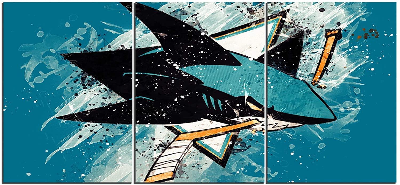 SANZHAIYISHENG San Jose Sharks Poster NHL Sport Art Prints on Canvas for Bedroom Living Room Wall Decoration Painting 20
