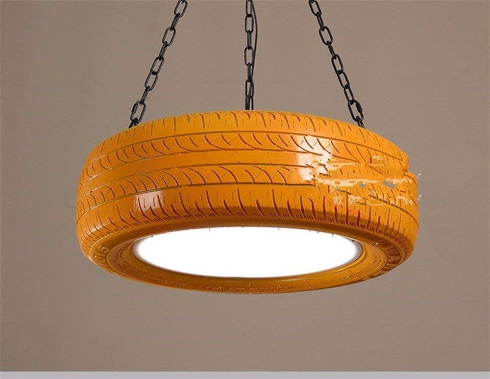 Home Decor Hanging Lamp/Chandeliers Retro Color Wheel Light Studio Loft Bar Lounge Light Yellow 18W White 60Cm for Bedroom,Parlour, Bar, Restaurant, BOSS LV