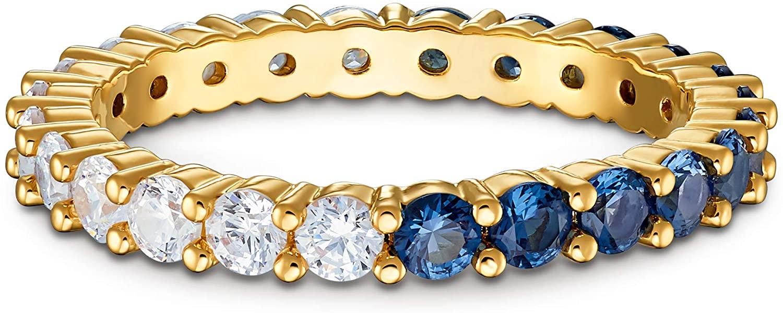 SWAROVSKI Vittore Half XL Ring 5535211 Blue, Gold-Tone Plating