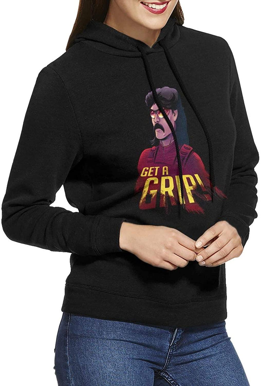 Dr. Disrespect Girls Ladies Hoodie Pattern Print Slim Fit Pullover Hooded Sweatshirts Athletic Sport No Pocket
