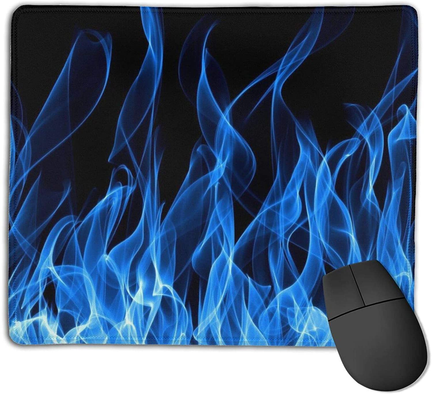 Blue Flame Customized Designs Non-Slip Rubber Base Gaming Mouse Pads for Mac,22cm×18cm, Pc, Computers. Ideal for Working Or Game