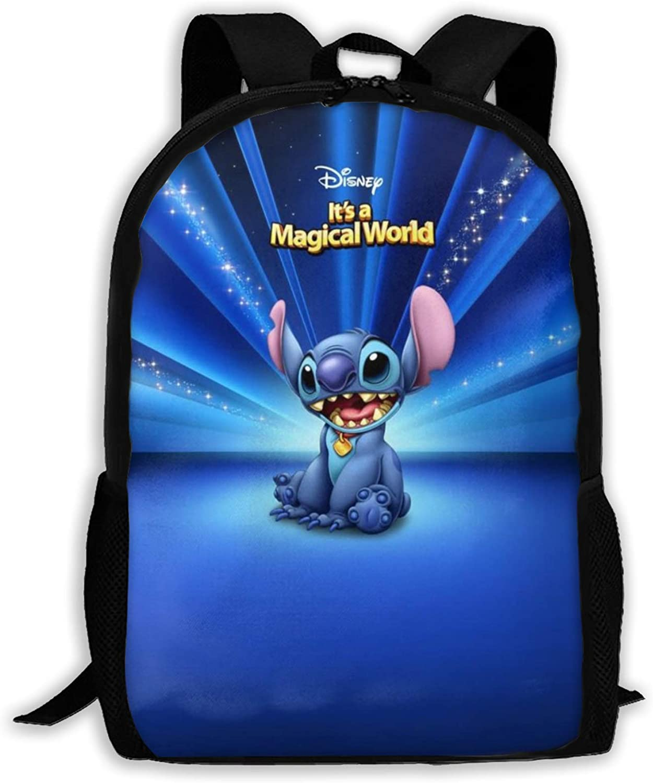 Stitch-23 Lightweight Backpack Briefcase Laptop Shoulder Bag Basic Water Resistant Daypack Bag
