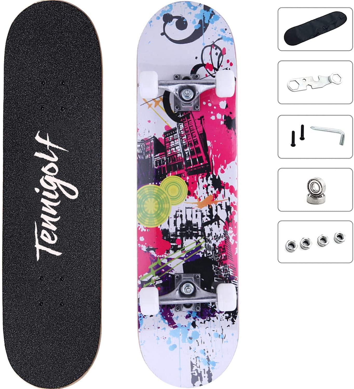 TENNIGOLF Skateboard, 8 Layers Decks 31
