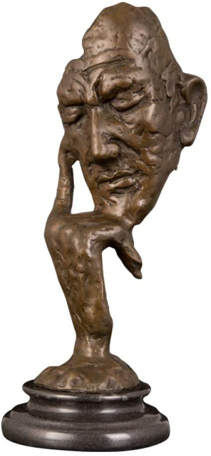 DAJIADS Figurine,Figurines,Statue,Statues,Statuette,Sculptures,Abstract Bronze Art Decor Bronze Thinker Statue Sculpture for Desk Ornament Office Home Decor