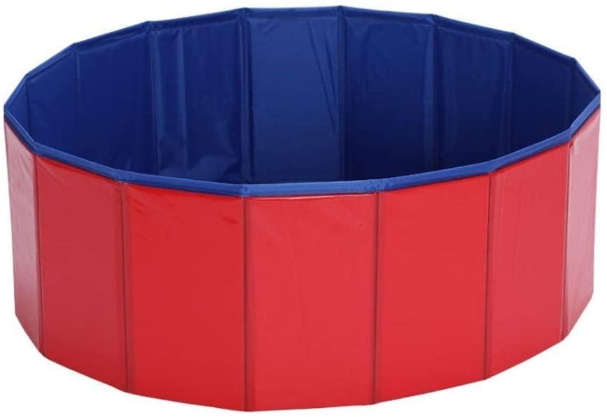 YJX Dog Bathtub Pet Supplies Swimming Pool Cleaning Folding Dog Bathtub PVC Bathing Bucket Bathtub (Size : L)
