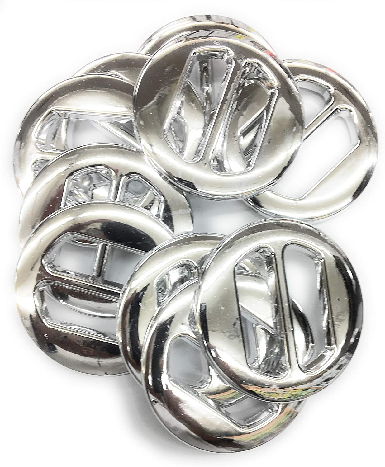 50 Belt Silver Round Buckle Silver Plated 3
