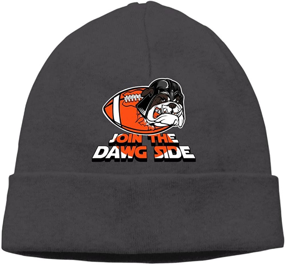 Join The Dawg Side Women Unisex Fashion Hip-pop Caps Winter Warm Female Turban Hat Hats