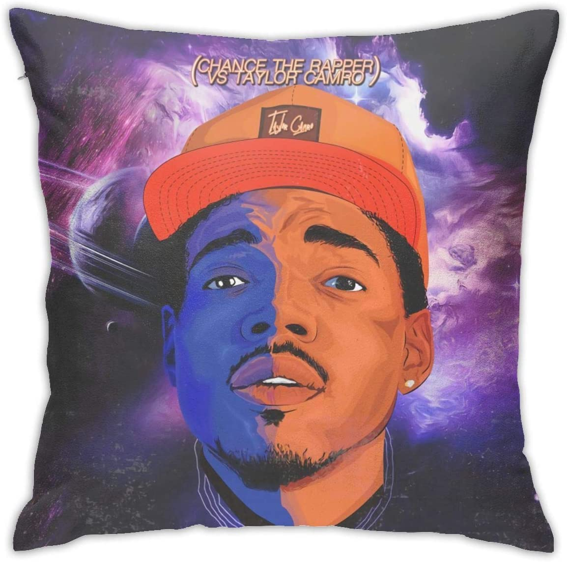 KarleDeal Chance The Rapper Pillowcase Fashion Square Throw Pillow Covers Home Office Pillow 18 Inch18 Inch