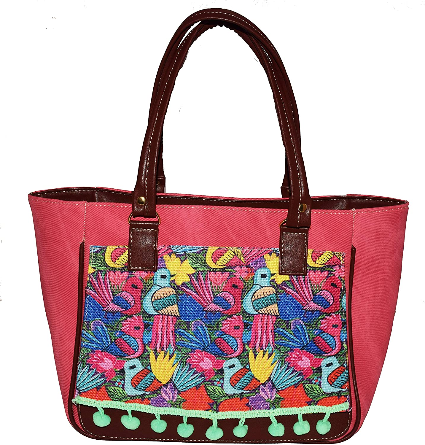 Mexican Multicolored fabric Handcrafted Women Handbags