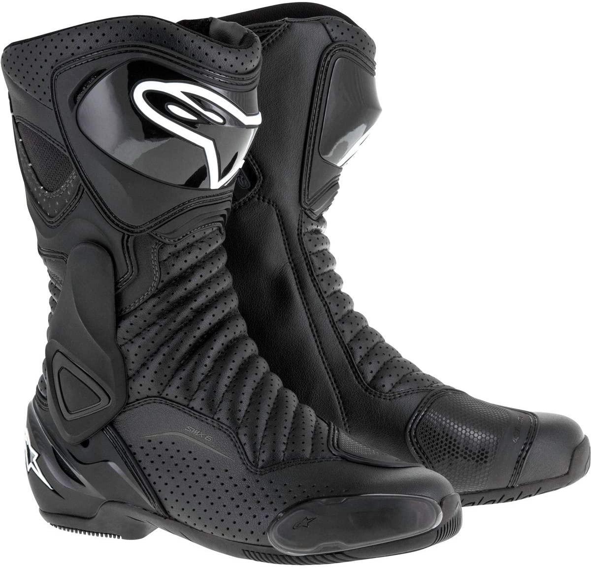 Alpinestars Men's SMX-6 v2 Vented Street Motorcycle Boot, Black, 43