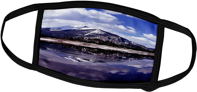3dRose Rocky Mountains Colorado Snow River - Face Covers (fc_284931_3)