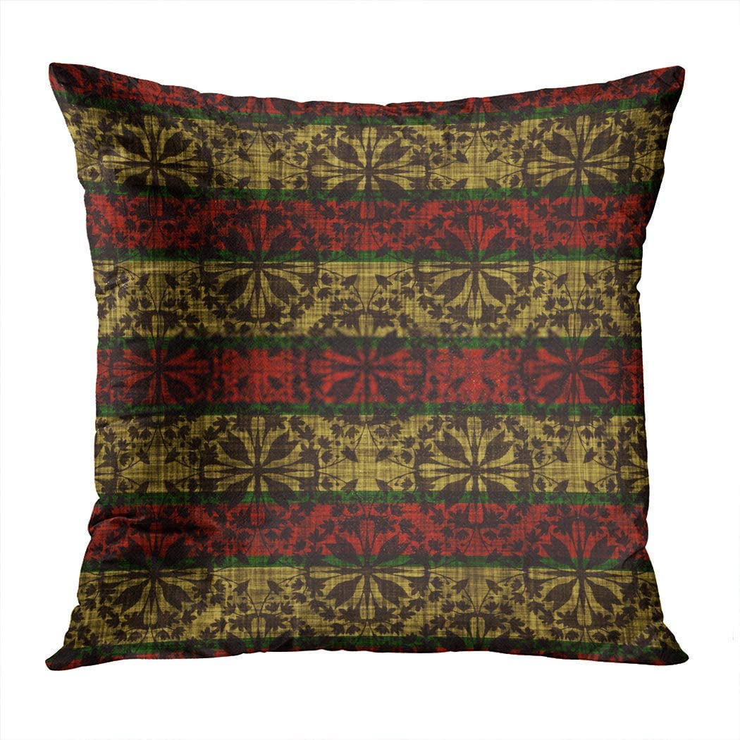 Zomike Throw Pillow Cover Square 51 x 20 Inch Farmhouse Winter Texture Country Log Cabin Christmas Snowflake Stripe Festive Cushion Home Decor Sofa Bedroom Office Polyester Pillowcase
