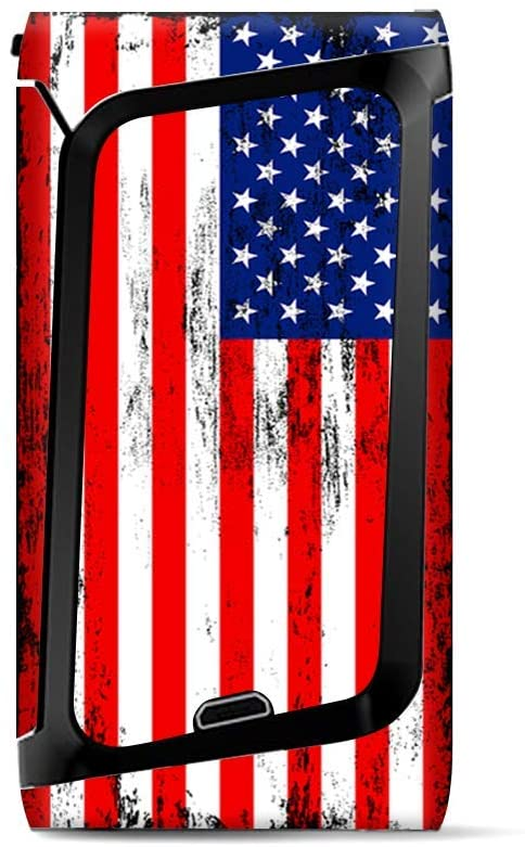 Skin Decal Vinyl Wrap for Smok Morph 219 Kit | Vape Stickers Skins Cover| American Flag Distressed red White Blue