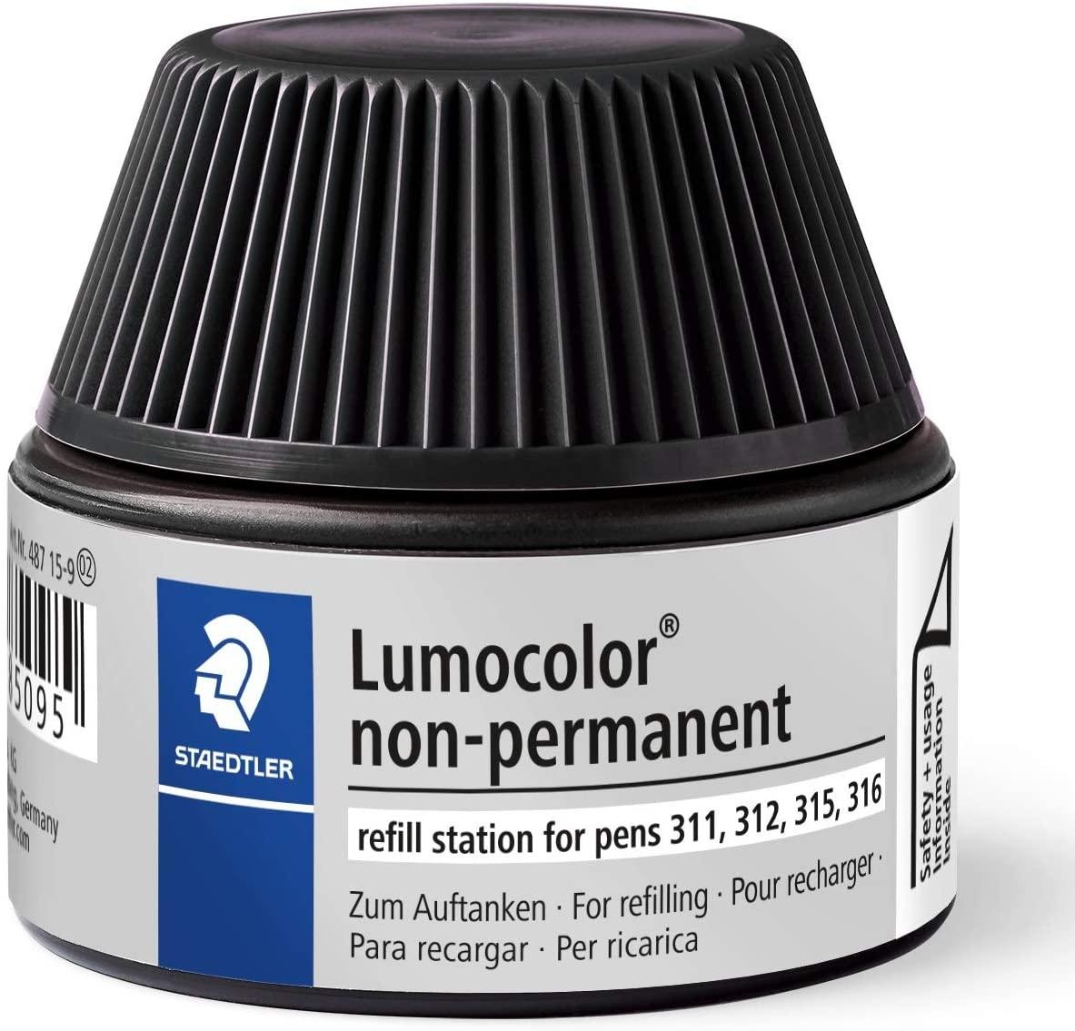 Staedtler Lumocolor Non Permanent Marker Pen Refill - Black