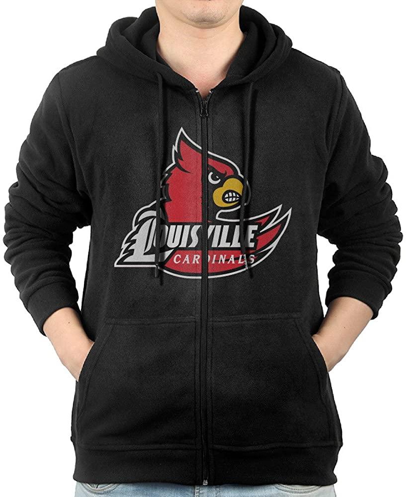 Fashion Hoodies For Mens Louisville Cardinals Logo Sweatshirts Zip-Up