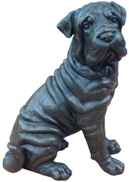 LIUSHI Dog Statue Sculpture, Bronze Sculpture Beagle Small Cold Cast Bronze Statue Sculpture Dog Pets Gift Idea Pet Gift Home Art Decoration
