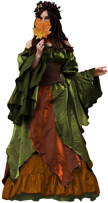 Autumn Fairy with Corset Costume Organza Earth Tones Copper Full Renaissance Fantasy Cosplay Costume