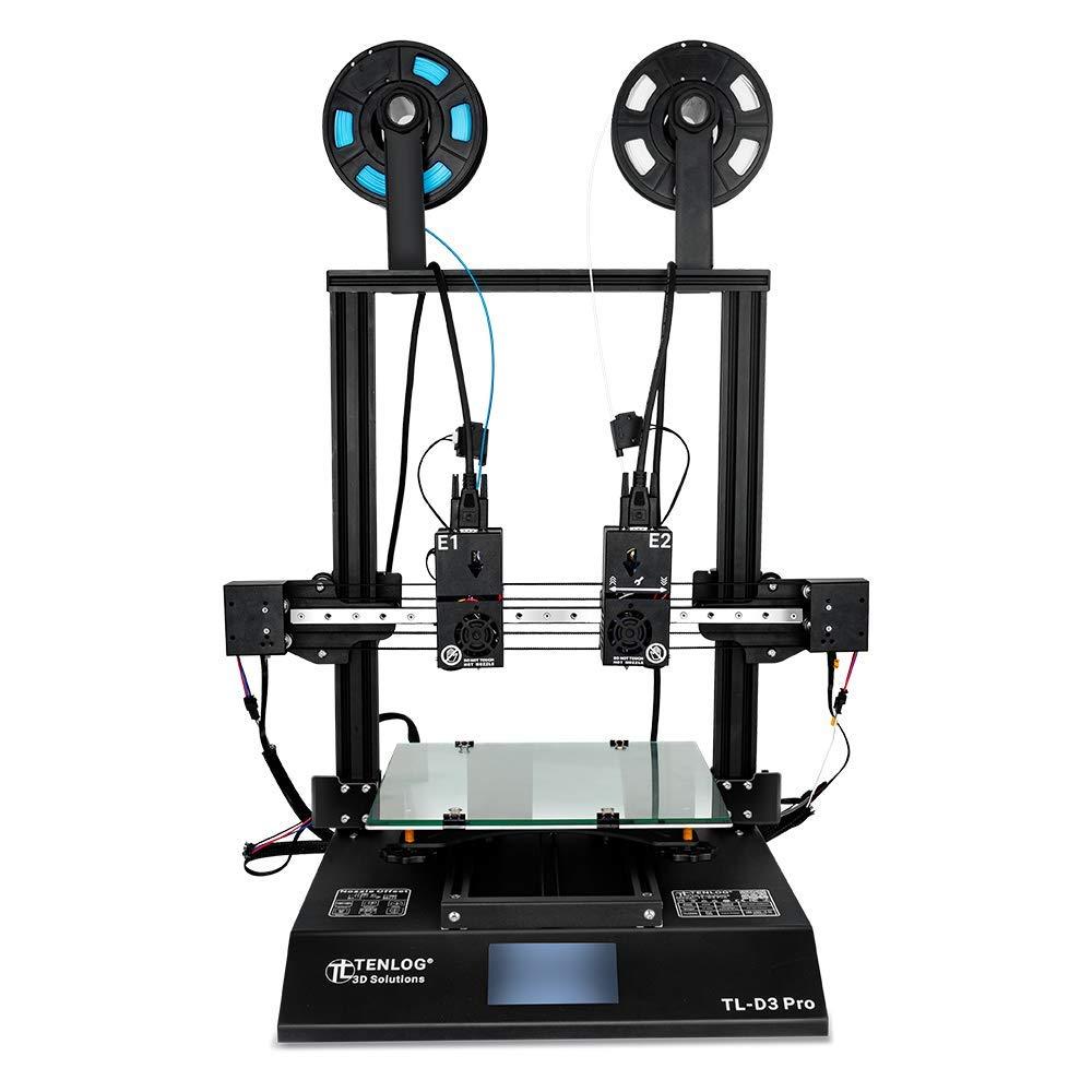 New - Tenlog TL-D3 PRO Dual Extruder 3D Printer with Filament Detecting & TMC2208 SilentStepStick Motor Controller/Drivers