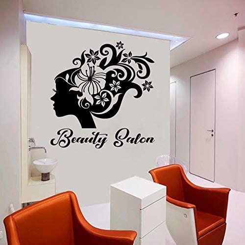 BYRON HOYLE Beauty Salon,Woman Face, Hair Salon,Style,Nail Salon,Wall Decal, Window Sticker,Design,Handmade2111