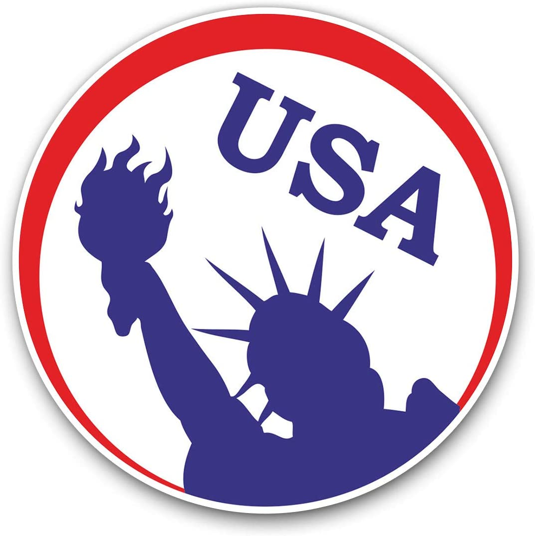 Awesome Vinyl Stickers (Set of 2) 10cm - Statue of Liberty New York USA Fun Decals for Laptops,Tablets,Luggage,Scrap Booking,Fridges,Cool Gift #4612