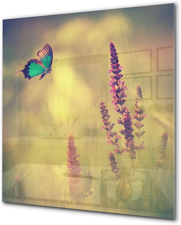 Toughtened glass Upstand – Glass backsplash – Kitchen & Bathroom splashback BS17 Green grass and cereals Series: Cereal Meadow Stalk 2