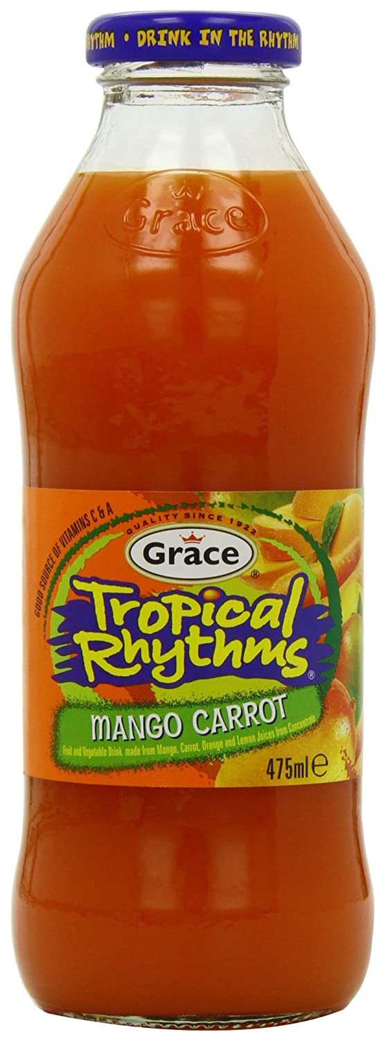 Grace Tropical Rhythms Mango and Carrot 475 ml (Pack of 12)