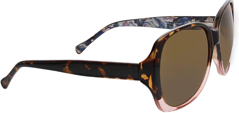 Vera Bradley Women's Maura Square Reading Glasses, Garden Grove, 64 mm + 2