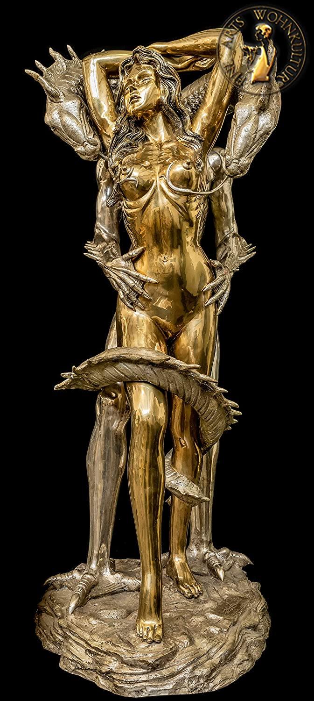 FINE ARTS WOHNKULTUR,Bronze Sculpture,Erotic,Dragons Beauty,Figur,Giant,Woman,Liebe,Sex,Art,Deko