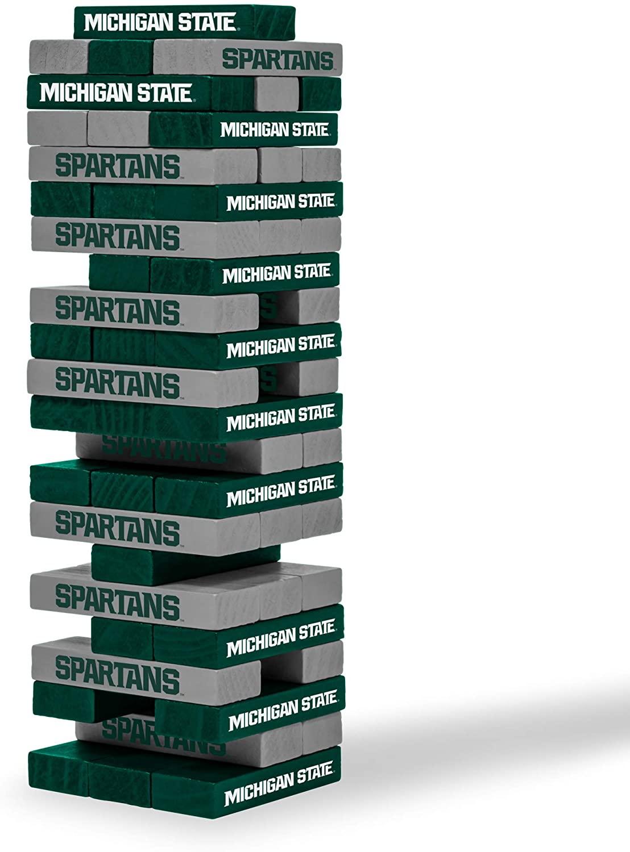 Wild Sports Tabletop Stacking Blocks Game, NCAA Football