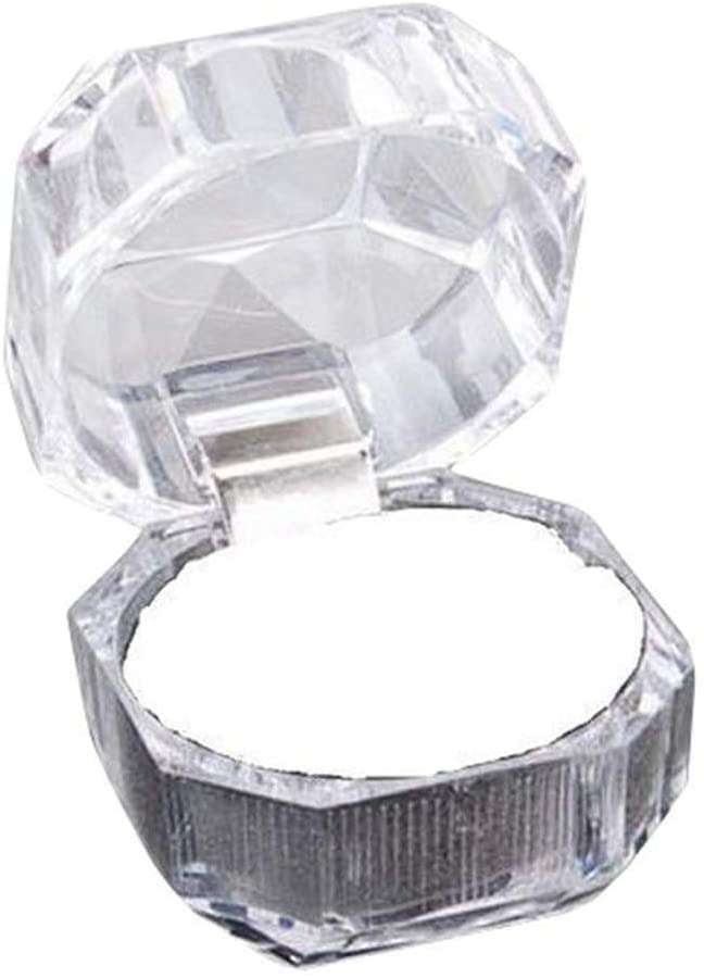 ar-wt Jewelry Box Organizer-30pcs Plastic Clear Crystal Jewelry Ring Display Storage Boxes,White