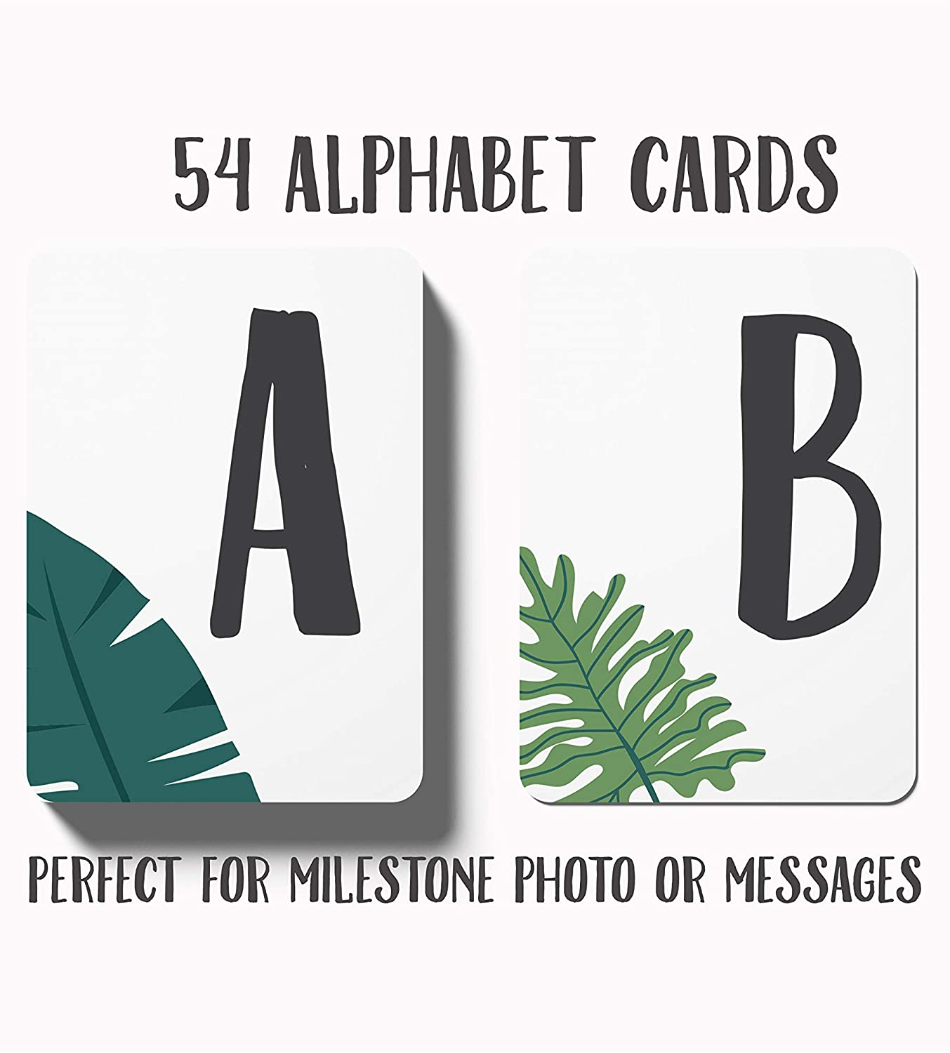Bambiny Alphabet Cards for Unique Messages - ABC Flash Cards for Kids and Adults - 54 Decorative Flashcards with Alphabet Letters - 300GSM Art Paper with Glossy Finish - Create Beautiful Decorations
