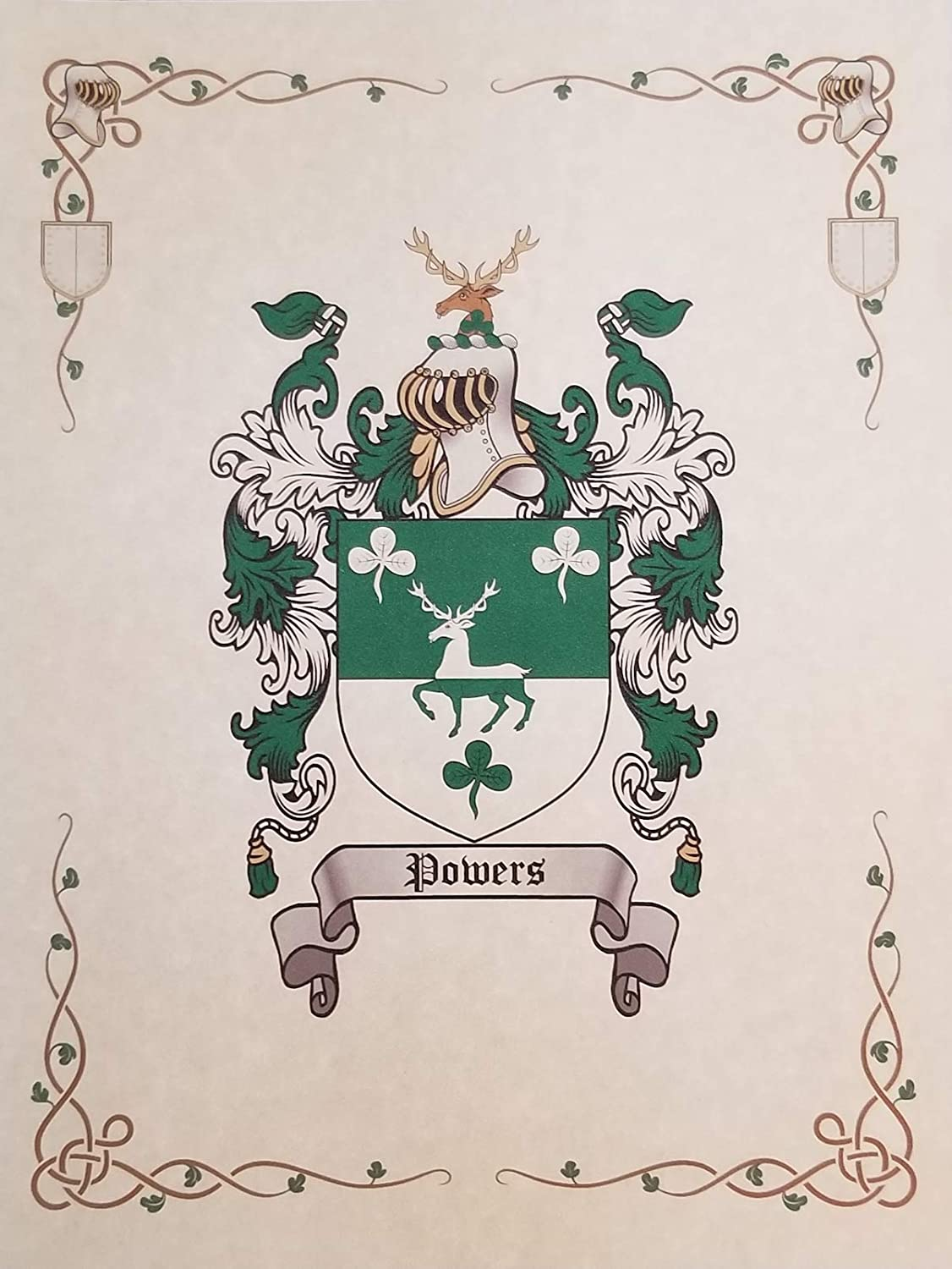 Mr Sweets Legere Coat of Arms, Family Crest 8.5x11 Print - Surname Origin: Canadian Canada