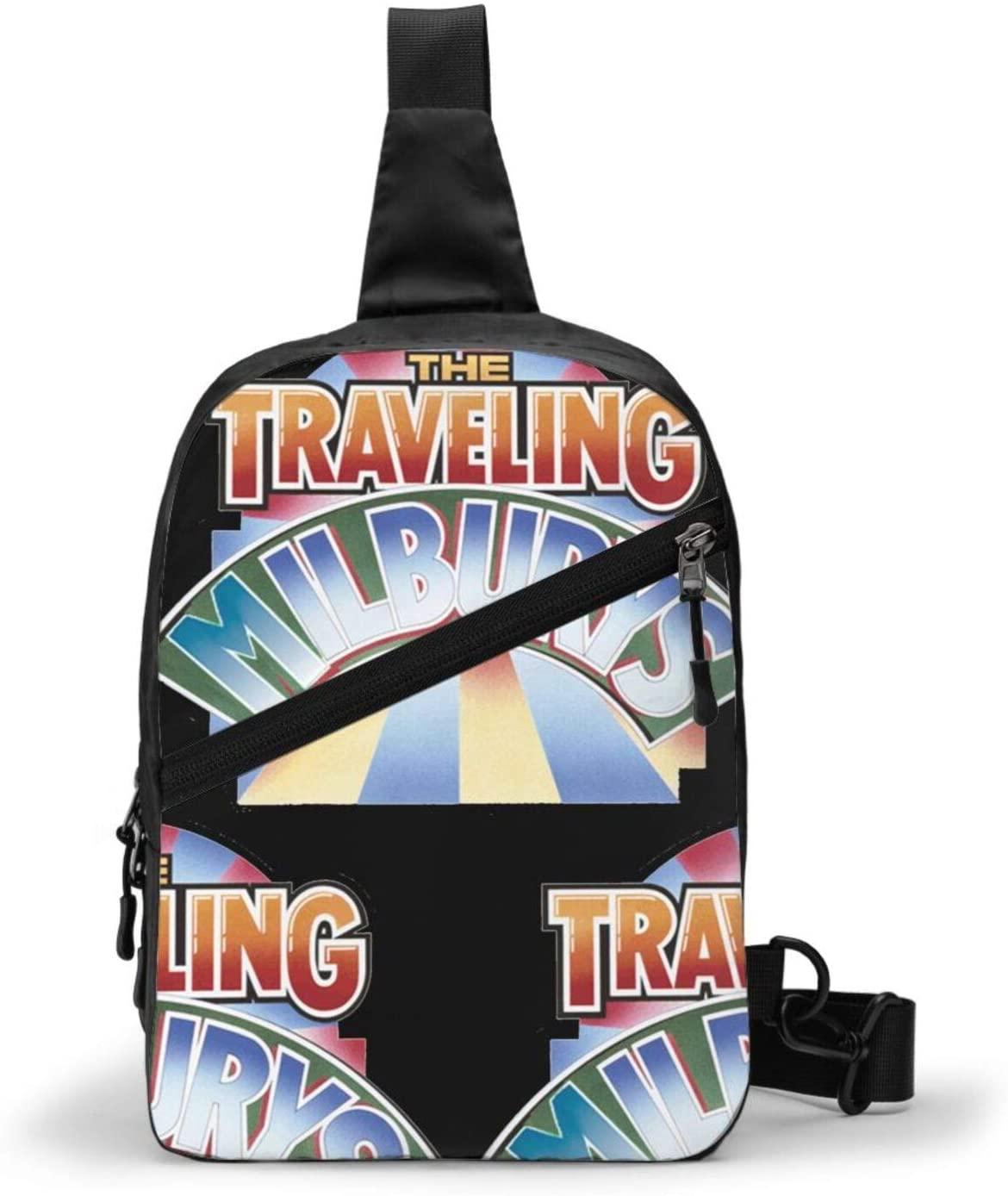 Traveling Wilburys Fashion Crossbody Sling Backpack Sling Bag Travel Hiking Folding Chest Bag